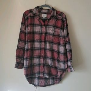 NWT AEO Distressed Flannel